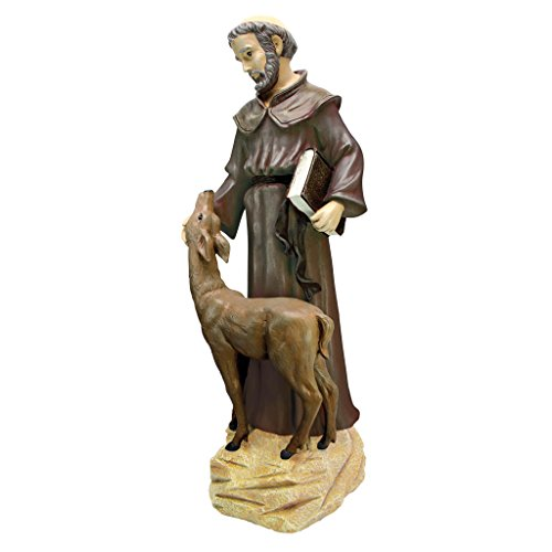 Design Toscano Friedliche Erscheinung des Hl. Franziskus, Statue: Groß