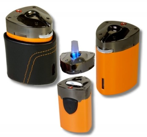 Tonino Lamborghini Tisch Feuerzeug Triple Jet Orange