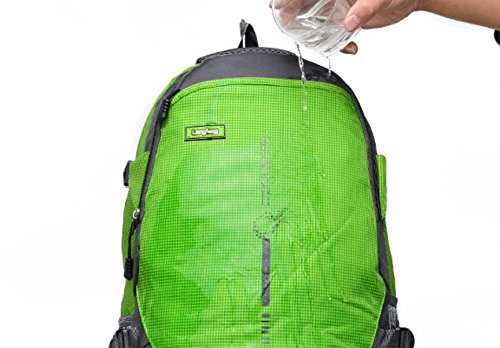 LQABW Grande Capacità Walking Outdoor Spalla Degli Uomini Borsa E Donne Impermeabile Sport Alpinismo Ridotto Un'escursione Zaino,Green Orange