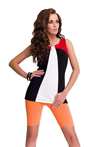 Legging shorts cyclisme en coton pour femmes, 16 différentes couleurs Orange