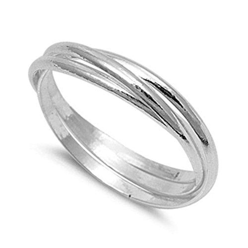 SterlingSilber Multiband Ring