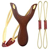 Dotters Wooden Slingshot Classic Aiming Catapult Toy for Outdoor Hunting Competition wood 1