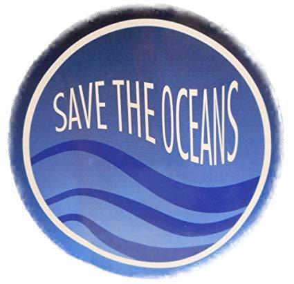 Save The Oceans Ozean Umweltschutz Aufkleber ca. 9 cm Ø Sticker Deko GOR 14