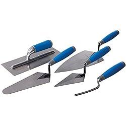 Silverline 395016 Lot de 5 truelles à poignée caoutchoutée 5 pièces