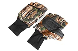 Quality Shooting Gloves,hunting Gloves,wet Grip Gloves,camo Gloves (Large)