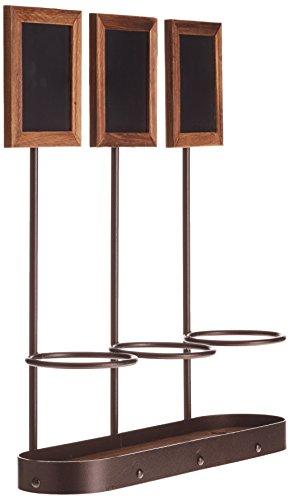 genware-nev-wb-wr-3-x3-lavagna-per-gessetti-a-forma-di-bottiglia-di-vino-con-display-in-legno-45-cm-
