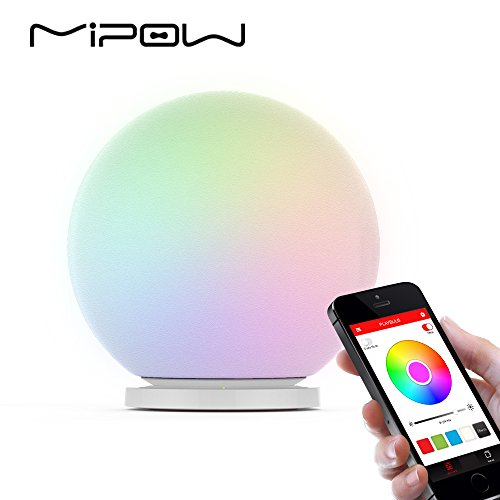 Global Brands Online MIPOW BTL-301W PLAYBULB Kugel Smart LED Nachtlicht Farbe ändern Dimmbare Glas Orb Dekorative Lampe