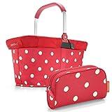reisenthel carrybag mit Abdeckung Cover Deckel Plus GRATIS makeupcase (Ruby dots)