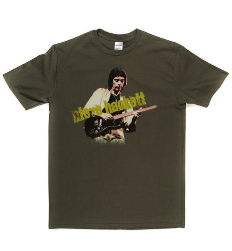 Steve Hackett Live Progressive Rock & Blues T-shirt T-shirt Militärgrün