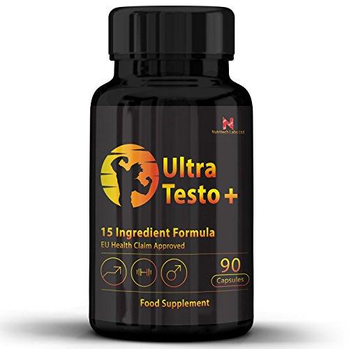 Testosteron Booster Natural – testosteron steigern, muskelaufbau & Libido- Starke Formel mit 15 Inhaltsstoffen- Bockshornklee, Maca, Zink, Magnesium & andere- testosteron tabletten für Männer, Frauen