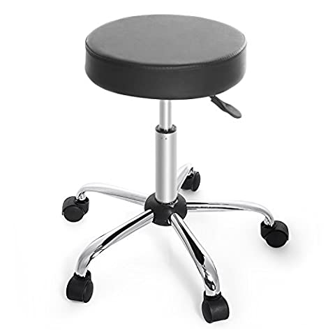 Homdox Swivel Stool Height Adjustable Rolling Bar Stool with Wheels 360 Degree Rotation Casters for Salon, Massage, Office and Medical