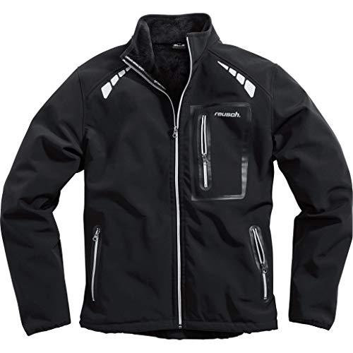 Reusch Softshelljacke Softshelljacke 1.0, Zwei seitliche Einschubtaschen, eine Brusttasche, reflektierende Drucke auf Front und Rücken, optimierte Passform, Schwarz, XL