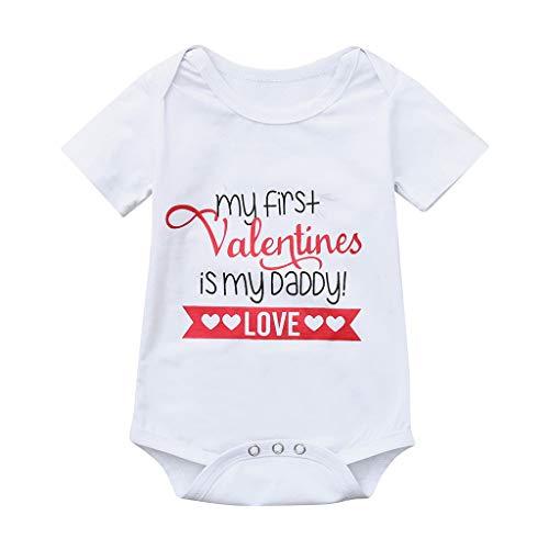 Giulogre Unisex Body Manches Courtes Lettre Imprimé Romper Coton Grenouillères Vêtements pour (0 Mois - 15 Ans) Nouveau-né Bébé Fille Garçon