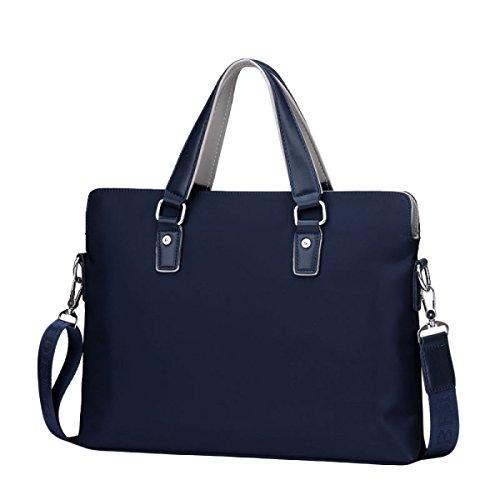 Männer Business Bag Business Bag Querschnitt Casual Bag Aktentasche Middle Age Handtasche Messenger Bag Blue