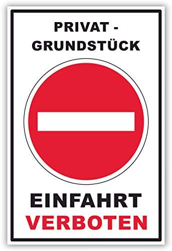 Schilder Himmel ANPASSBARES Einfahrt verboten Schild, auch mit eigenem Wunschtext, hier Größe DIN A4 29x21cm Alu-Verbund mit Schrauben -131- in verschiedenen Größen und Materialien
