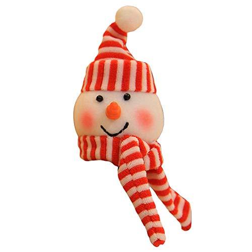 Weinflasche Cap Dekoration, Weihnachten Sankt Schneemann Elf Muster Abdeckung für Rotweinflasche Dekoration ()