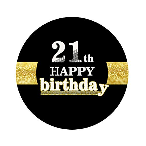 Amosfun 12pcs 21. Happy Birthday Stickers 60. Geburtstag Dekorationen liefert Party Favors