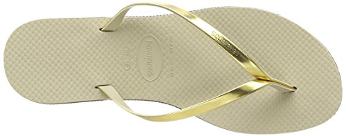 Havaianas You Metallic, Sandales Bout Ouvert Femme Or (Sand Grey/Light Golden 2719)
