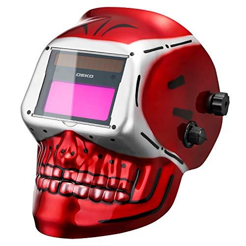 DEKO Casque de Soudeur à Assombrissement Automatique à énergie Solaire (Gamme d'ombre complète 4/9-13) pour Masque de Soudure d'arc de Tig de Mig