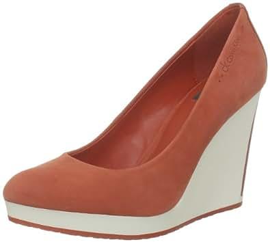 Calvin Klein Madge Nubuck/Soft Patent, Escarpins femme - Orange (Tag), 36 EU