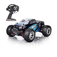 Idea Regalo - MaxTronic Macchina Telecomandata 40km/h Rc Car 4WD Auto Radiocomandata 2.4Ghz 1:20 RC Monster Truck Telecomando Batterie per Cingoli per Auto Incluso Blu Aggiornato (Blue)