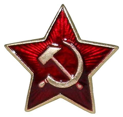Genuine Russian Soviet Red Army Issued Star USSR Kokarda Cossack Trapper Fur Hat Cap Beret Pin