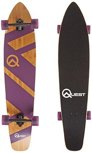 The Quest Super Cruiser Longboard/Longboard, Bambus und Ahorn, 112 cm, Violett -