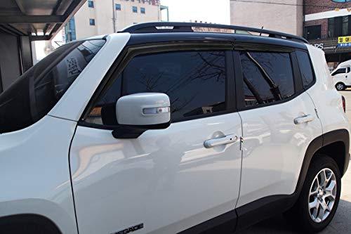 Autoclover para Jeep Renegade 2014+ Deflectores de Viento Set (4Piezas) (Ahumado)