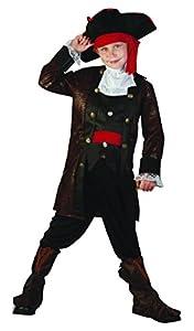 Reír Y Confeti - Fiapir011 - Disfraces para Niños - Traje de Pirata de Alta Mar Deluxe - Boy - Talla S