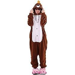 Kigurumi Pijamas Unisexo Adulto Cosplay Traje Disfraces Animal Ropa de Dormir Halloween y Navidad, Ratón