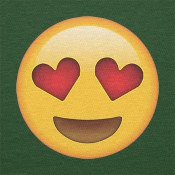 TEXLAB - Heart Eyes Emoji - Herren T-Shirt Flaschengrün