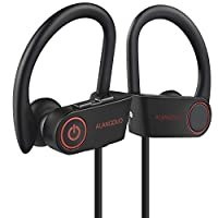 Running Bluetooth Headphones, Wireless Bluetooth Earphones, IPX6 Waterproof & Sweatproof Wireless Earbuds for Jog Gym Cycling with Built-in Noise Cancelling Mic for iPhone,iPad,Samsung (G6 Black)