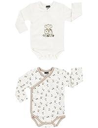 Jacky Boley Baby Unisex Wickel-Body langarm 2er-Pack Tierfreunde beige 6151776