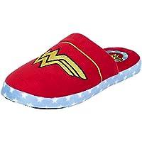 Ufficiale Da Donna DC Fumetti Wonder Woman Logo Design Sabot Ciabatte Slip-On - Nuovo