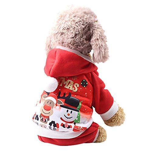 Ears Weihnachten Pet Puppy Hooded Sweatshirts Kostüm Hundbekleidung Hunde Kleider Haustier Kostüm Winterkleidung Mantel Bekleidung Haustier Kleid Welpen Warm Weste-Kostüm