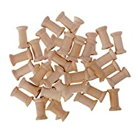 50pcs Vintage Wooden Sewing Tools Blank Thread Bobbins Sewing Terms Practical