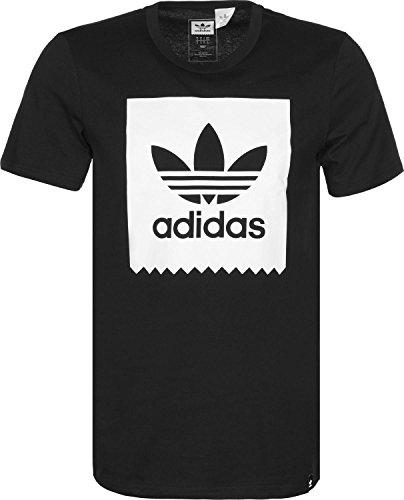 adidas Trefoil Solid T-Shirt Herren schwarz / weiß