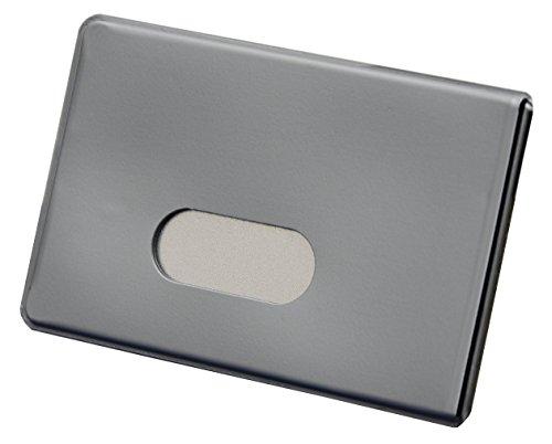 BE-HOLD 2 x RFID NFC Schutzhüllen aus Kunststoff für Kreditkarten und Bankkarten von BE-HOLD sind die idealen Scheckkartenhüllen zum Schutz vor Datendieben (2 Stück, Silber)