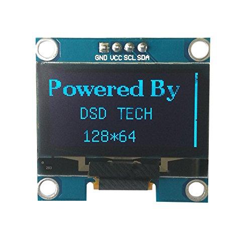 DSD TECH Pantalla OLED I2C de 1.3 PULGADAS con 4 PIN Compatible con U8glib para Arduino