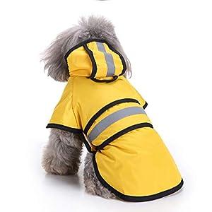 Merkmal: 1. 100% wasserdicht & atmungsaktiv & leichtes Tuch. 2. Doggie wie ein Spaziergang auch an regnerischen Tagen, daher braucht es Regenbekleidung, um Hautkrankheiten oder Erkältungen zu vermeiden. 3. Stoppen Sie effektiv, dass Wasser mi...