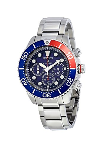 Seiko Men's SSC019 Solar Diver Chronograph Watch
