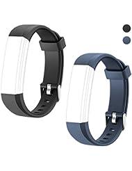 Letsfit ID115U, ID115U HR Replacement Bands, Adjustable Replacement Straps Fitness Tracker ID115U, ID115U HR, NOT for ID115, 5 Sets (Black, Blue, Pink, Purple, Green)