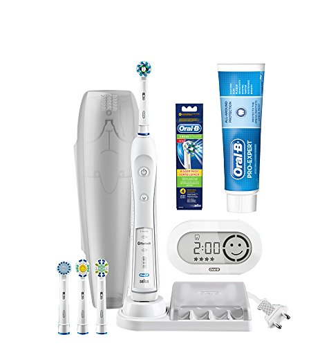 Oral-B Pro 6000 Smart Series Electric Toothbrush with Bluetooth Connectivity, Cross-Action Refills and ProExpert Toothpaste