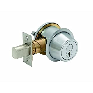 Falcon D241BD 626 (SFIC) D200 Series Grade 2 Non-Handed Medium Duty Deadlock, Deadbolt Chasis, Single Cylinder, Small Format Interchangeable Core, Satin Chrome Finish