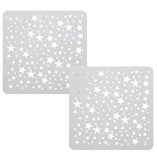 TRIXES Zeichenschablonen Vorlagen Mini Sterne für Scrapbooking Karten Bastelarbeiten - Stern-schablonen