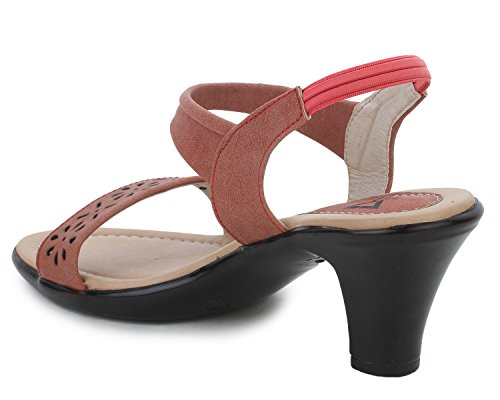 MISTO VAGON WOMEN AND GIRLS FORMAL SANDALS BLOCK HEEL SANDALS CASUAL SANDALS PARTY WEAR SANDALS WITH SUEDE LEATHER UPPER AND SYNTHETIC LEATHER UPPER VJ1277