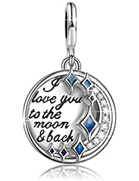 NinaQueen - I Love You to the Moon and Back - Charm pour femme argent 925