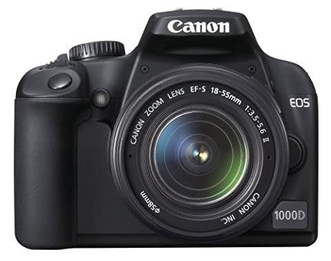 Canon EOS 1000D Appareil photo numérique Reflex 10 Mpix Kit Objectif 18-55mm II Noir