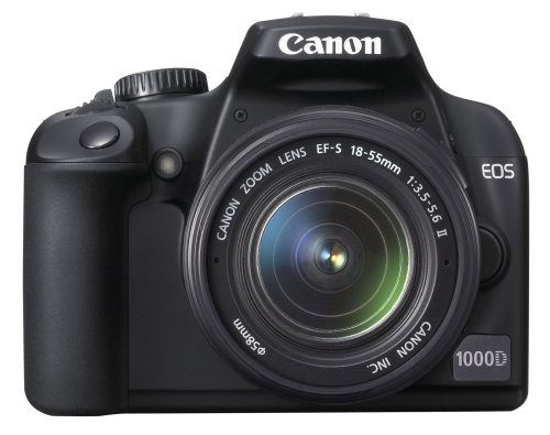 Canon EOS 1000D SLR-Digitalkamera (10 MP, LiveView, Kit inkl. EF-S 18-55 Objektiv) -