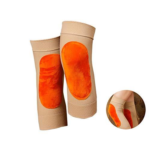 WHYIT Elastische Kniebandage für Männer und Frauen + Schutzpolster, verstellbare Bänderverletzung, Kniebandagen für Meniskusriss-Vorbeugung Leicht und atmungsaktiv Das vierseitige elastische 2Pcs